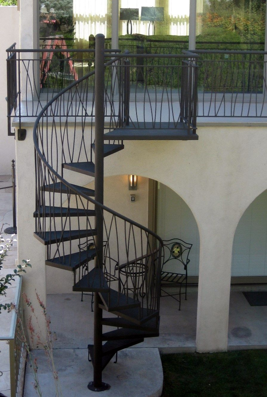 Custom Stair Railing Custom Residential Powder Coated Sloped Long Grass Design