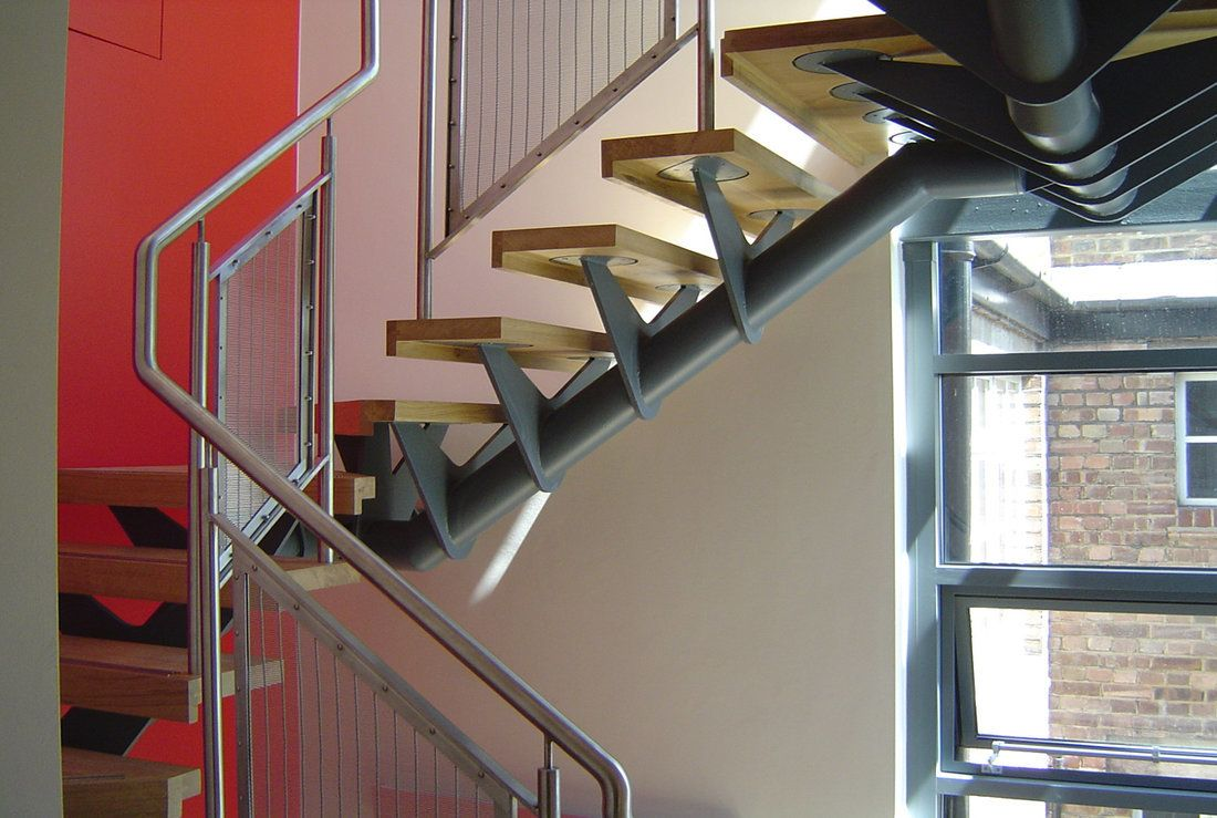 Woven Stainless Steel Staircase Balustrade