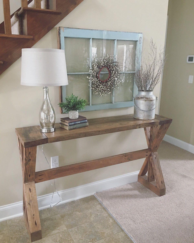 Elegant Rustic Entry Way Table