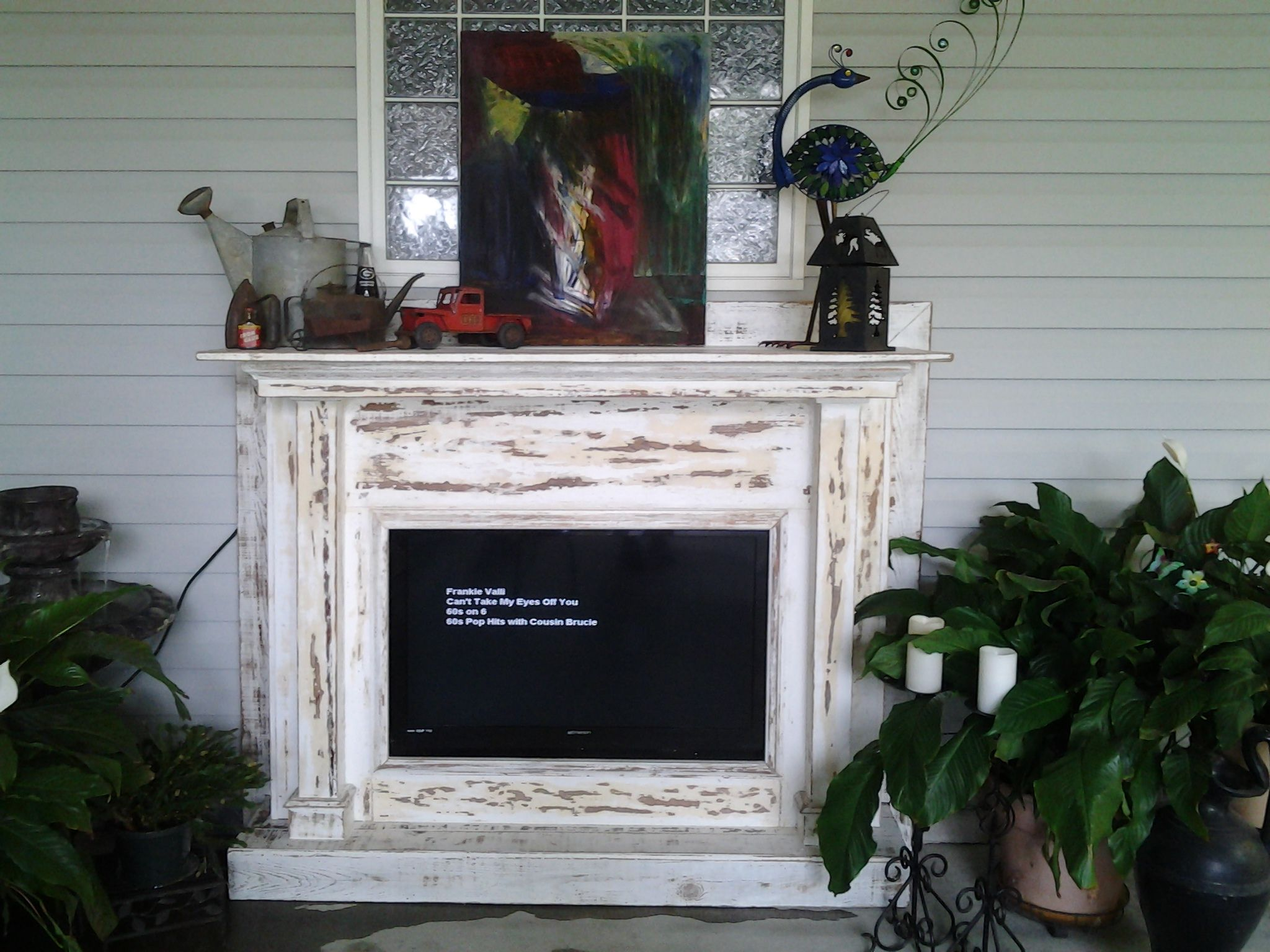 Antique Mantle from The Reese Plantation in Washington GA repurposed