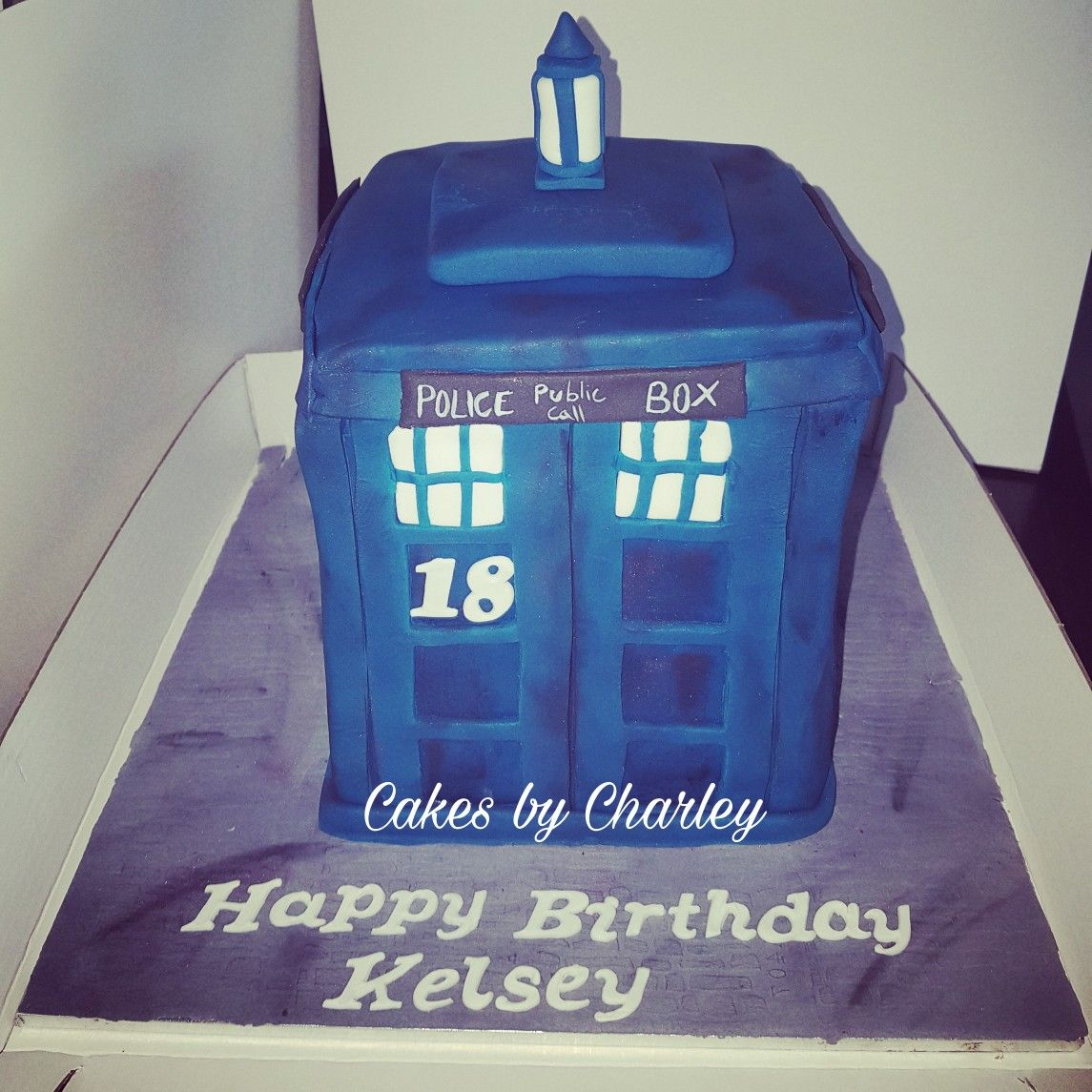 Tardis cake Doctor who 3D cake Cakes by Charley