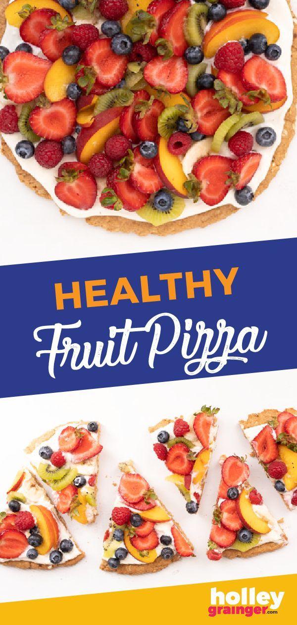 Healthy Fruit Dessert Pizza Recipe | Holley Grainger, MS, RD