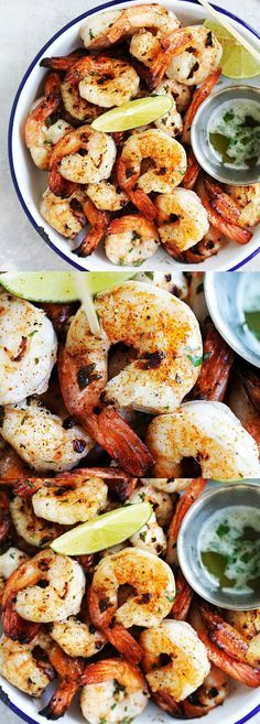 Garlic Lime Shrimp  Garlic Lime Shrimp  easy shrimp recipe with garlic butter and lime juice. Grill them or cook on a grill pan for the best shrimp dish ever | rasamalaysia.com