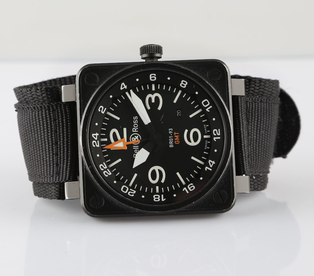 e546dc65af1 Bell   Ross BR01-93 GMT AVIATION TYPE   MILITARY SPEC. Automatic Wristwatch