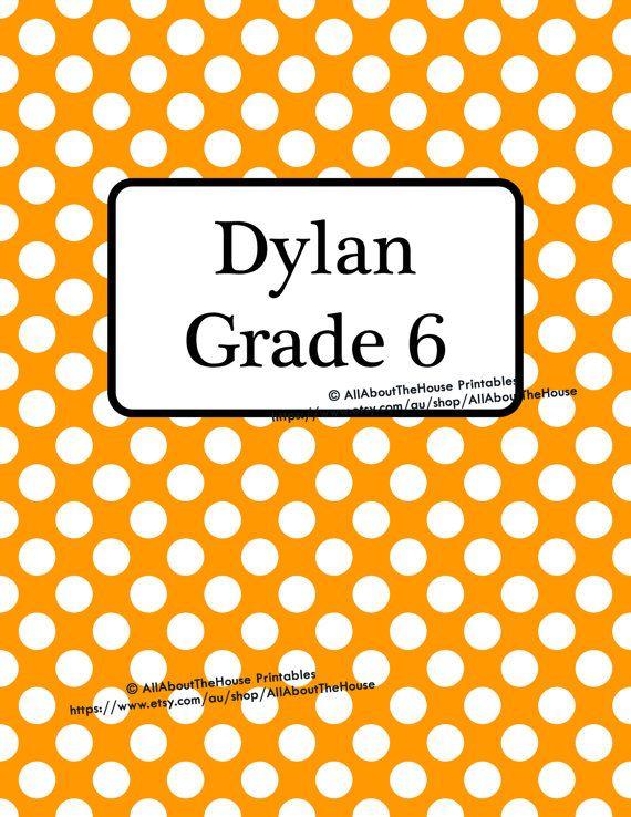 printable binder insert, boy binder cover, school folder, notebook