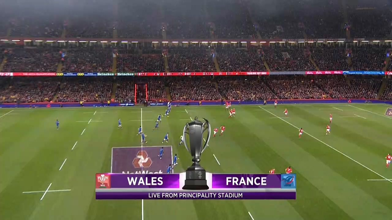 goals RUGBY UNION Six Nations 2018 R05 Wales vs. France