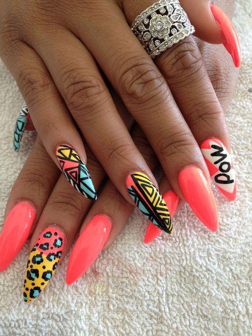 Cheetah Nail Designs, Cheetah Nails, Cute Nail Designs - 45+ Fearless Stiletto Nails Nail Art Nails, Nail Art, Stiletto Nails