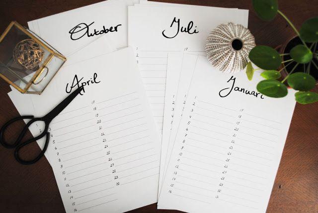 Printable Birthday Stationery Paper ~ Free printable birthday calendar dutch design on a budget
