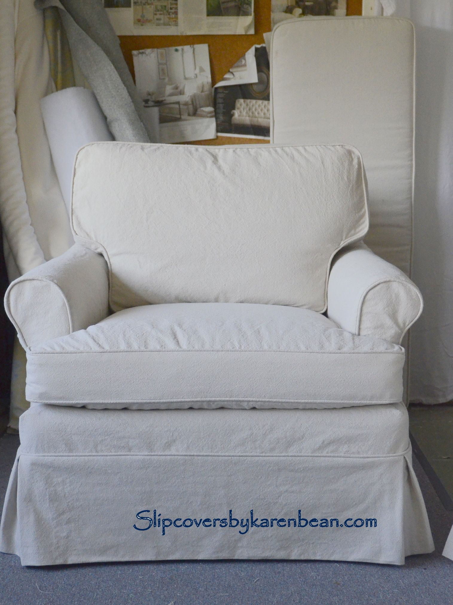 Slipcover with dropcloth Upholstery Pinterest