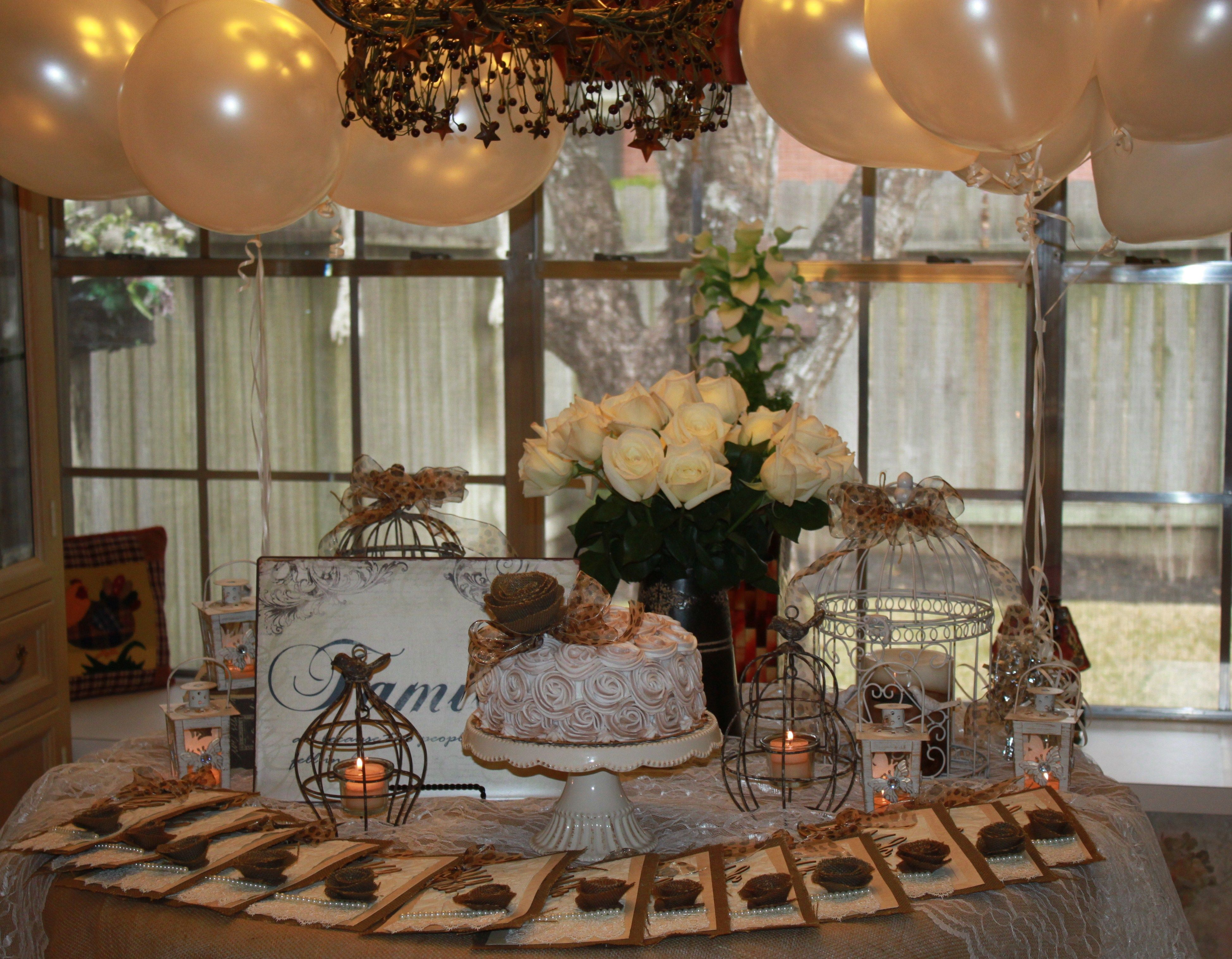 A vintage garden themed party for moms 75th birthday Theme