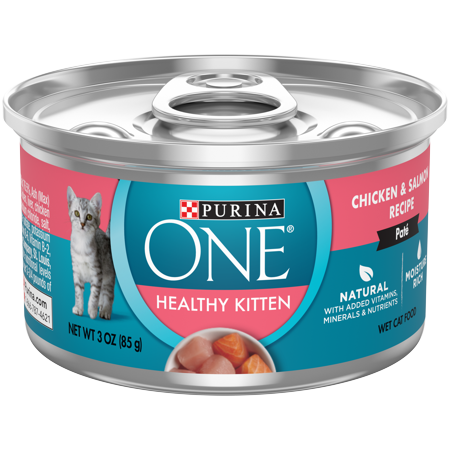 12 Pack Purina One Grain Free Natural Pate Wet Kitten Food Healthy Kitten Chicken Salmon Recipe 3 Oz Cans Walmart Com In 2020 Canned Cat Food Kitten Food Liver Recipes