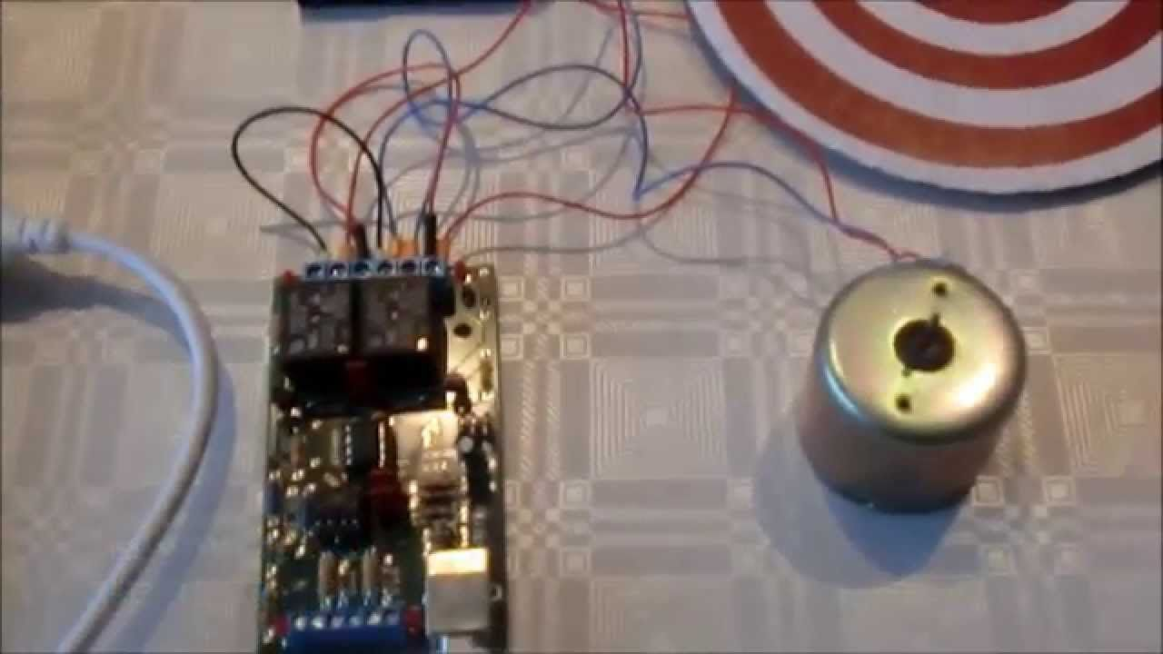 Control A Dc Motor With Simplibox Usb Relay Build Your Own Using
