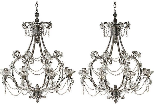 Antique english chandeliers pair home decor want it love it antique english chandeliers pair mozeypictures Choice Image