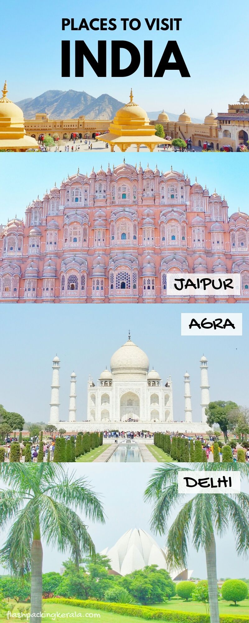Golden Triangle India Itinerary Diy Golden Triangle Tour By Train Bus Backpacking India Flashpacking Kerala Cool Places To Visit Backpacking India Golden Triangle India
