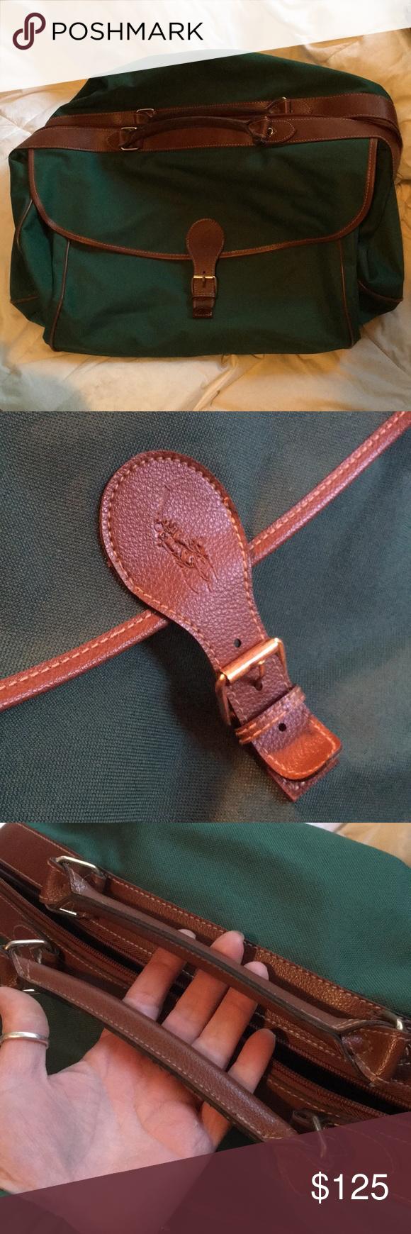 3c3e5681d60e Vintage Ralph Lauren Travel Bag Set w  Leather Almost New Vintage Ralph  Lauren Polo Travel