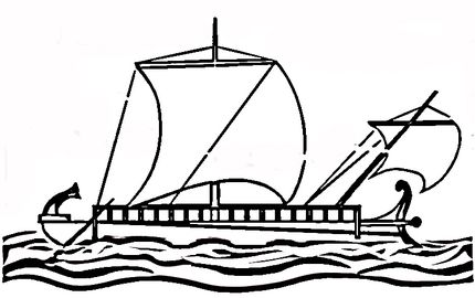 Ship Of Odysseus coloring page