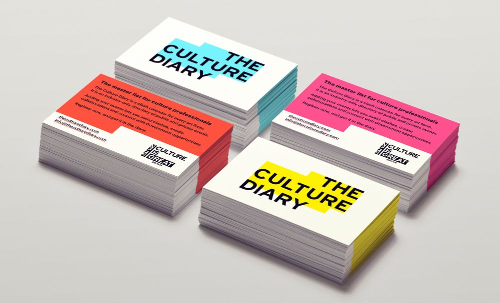 The Culture Diary business cards designed by Praline - Business