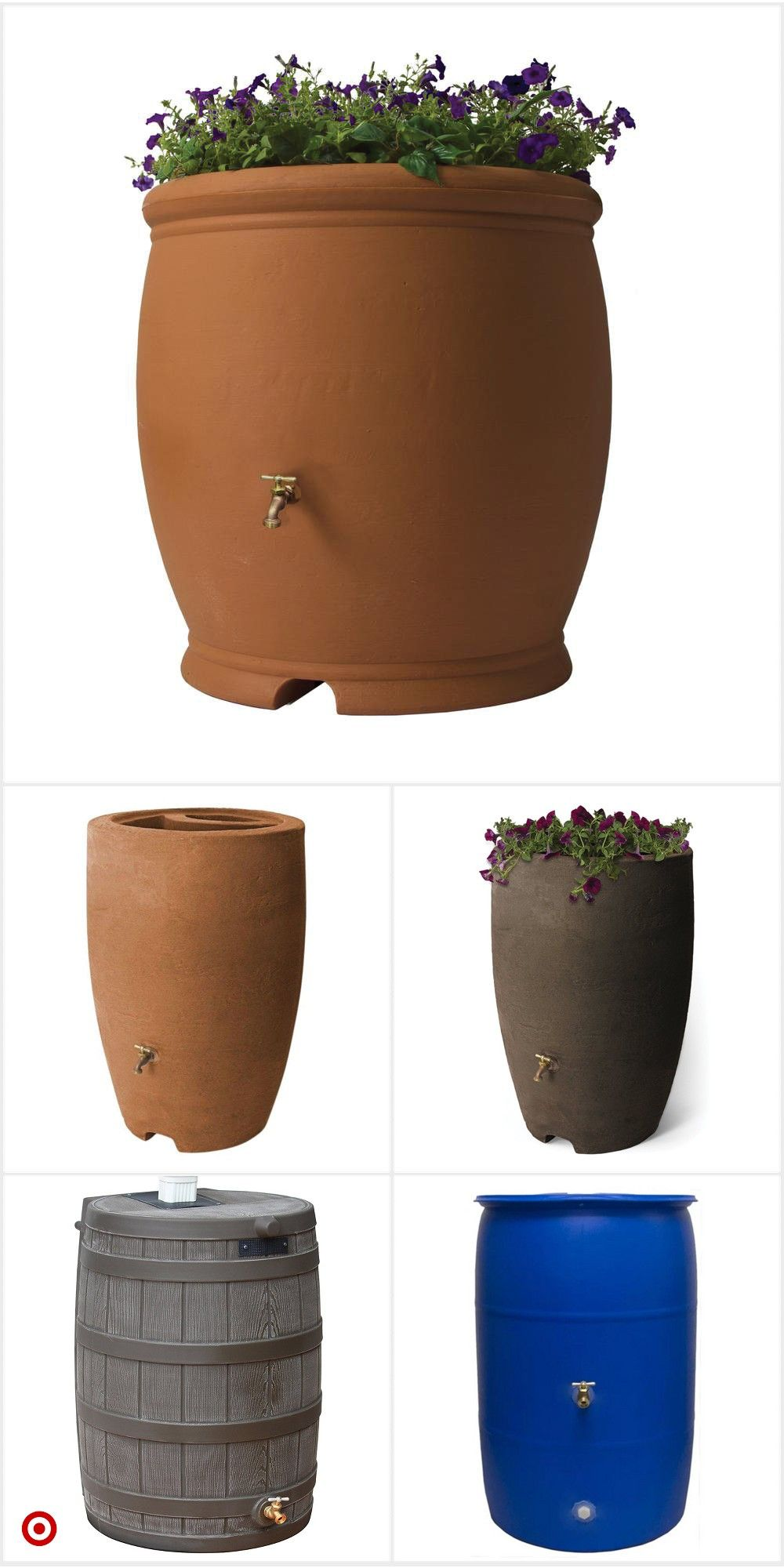 Rain Barrel For Collecting Rain Water And Using It For Watering