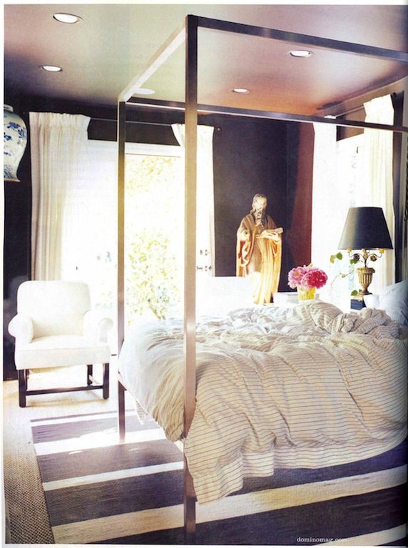 Review stripes on stripes theaestate tumblr Modern - Style Of canopy bed frame Contemporary
