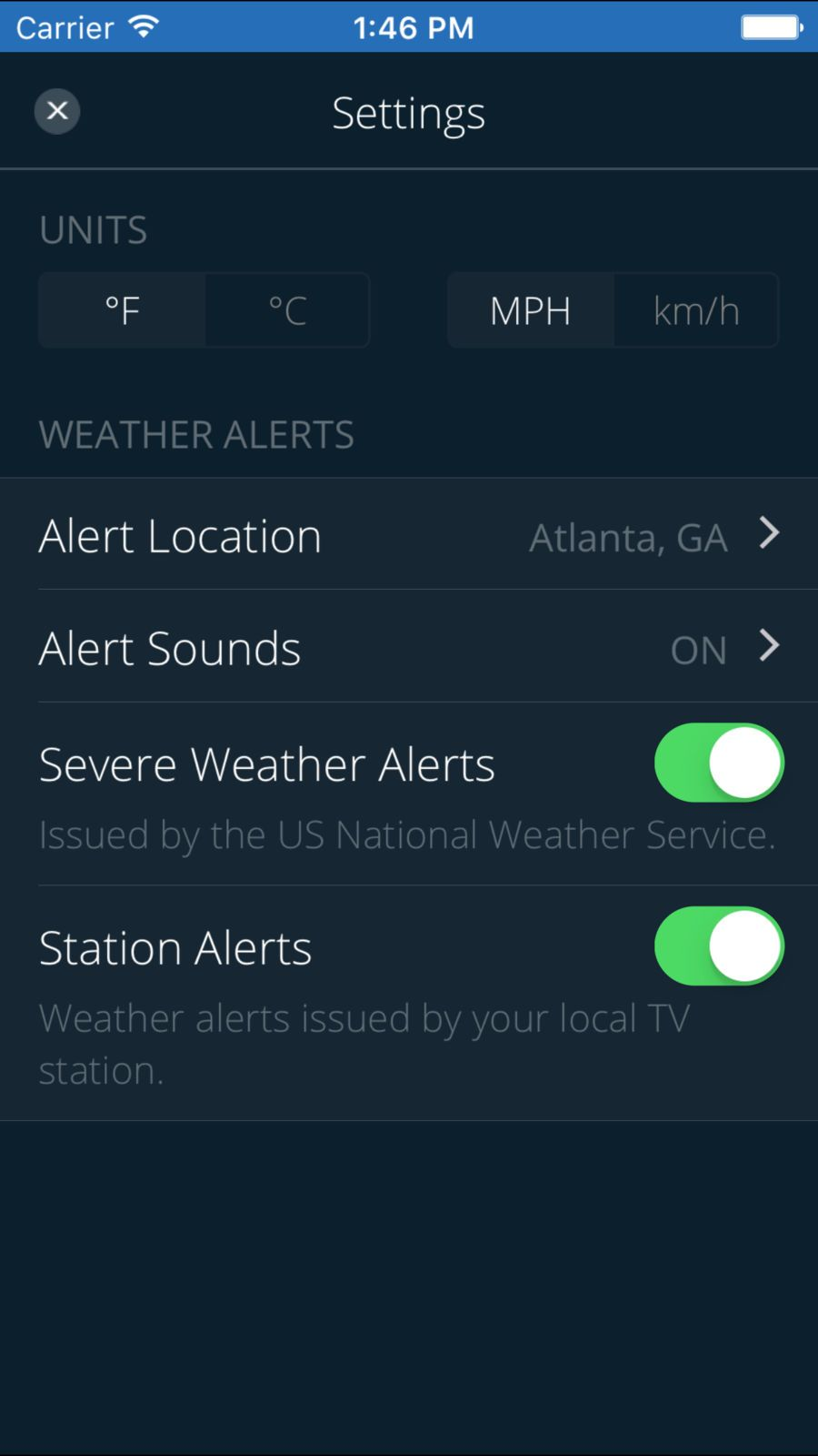 11Alive WX NewsWeatherappsios Local tv stations
