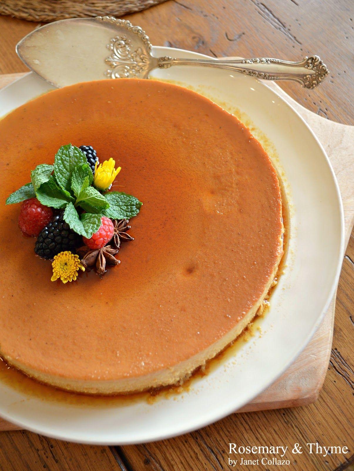 Pumpkin Caramel Flan Dessert Anyone Pinterest