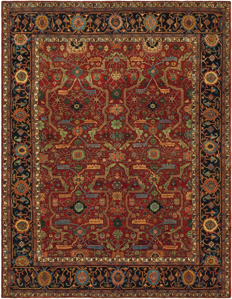 Rugstudio Presents Ralph Lauren Richmond Rlr9551a Vintage Red Hand Knotted Best Quality Area Rug