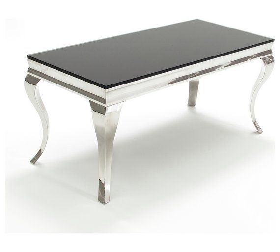 Buy Furnoko Louis 110cm Glass Coffee Table Black At Argos