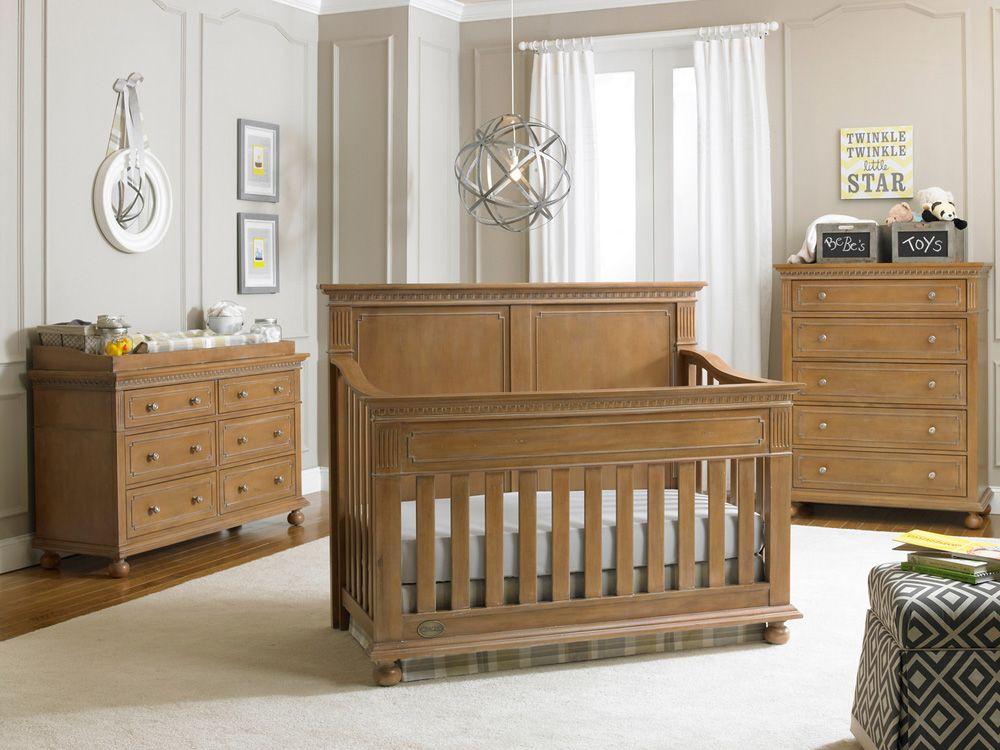 Naples full panel crib in Harvest Brown | Full-Size Cribs ...