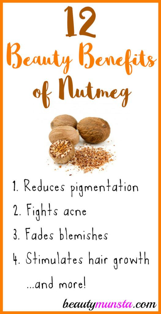12 Beauty Benefits of Nutmeg for Skin & Hair - beautymunsta - free natural beauty hacks and more!