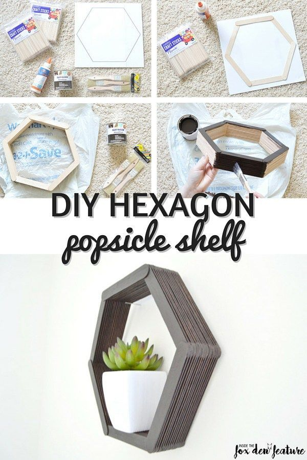 Photo of Ivy from Perfectly Ambitious shares how easy it is to create a DIY Hexagon Popsi …