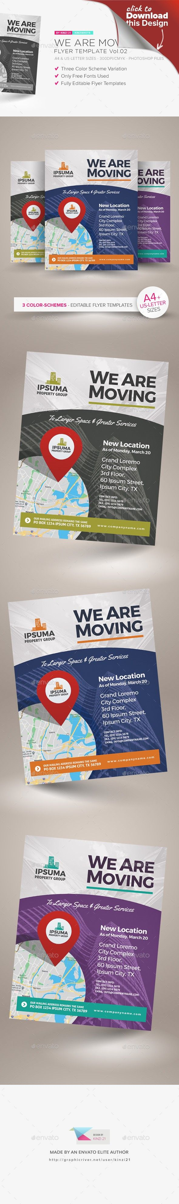 We Are Moving Flyer Vol 02 Flyer Template Moving Announcements