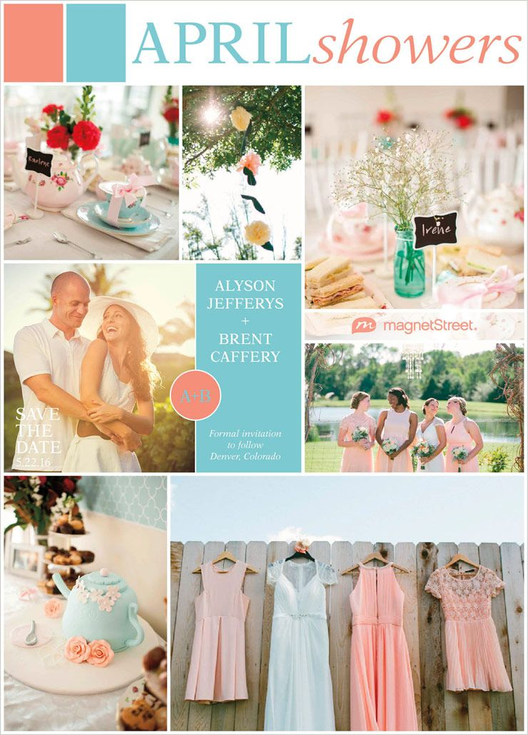 Vintage-Modern Coral and Turquoise Wedding | Turquoise weddings ...