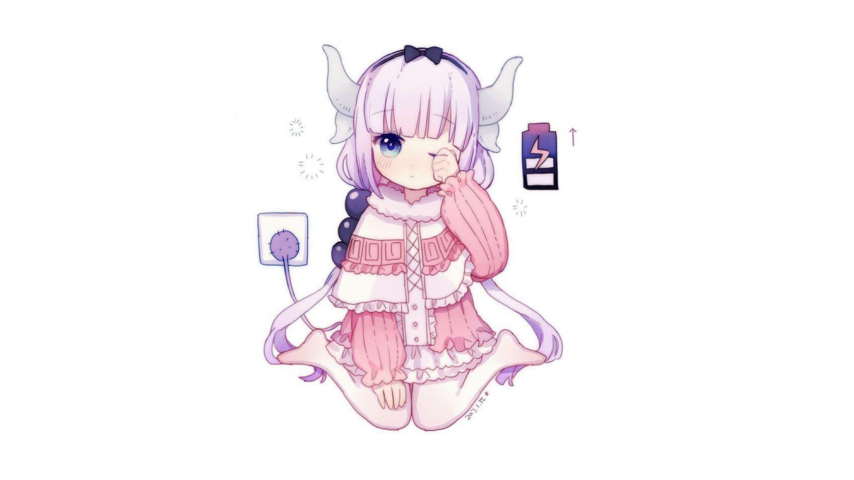 Lwed Anime Girl Wallpaper Anime 1698x955 Anime Anime Girls Kobayashi San Chi No Maid