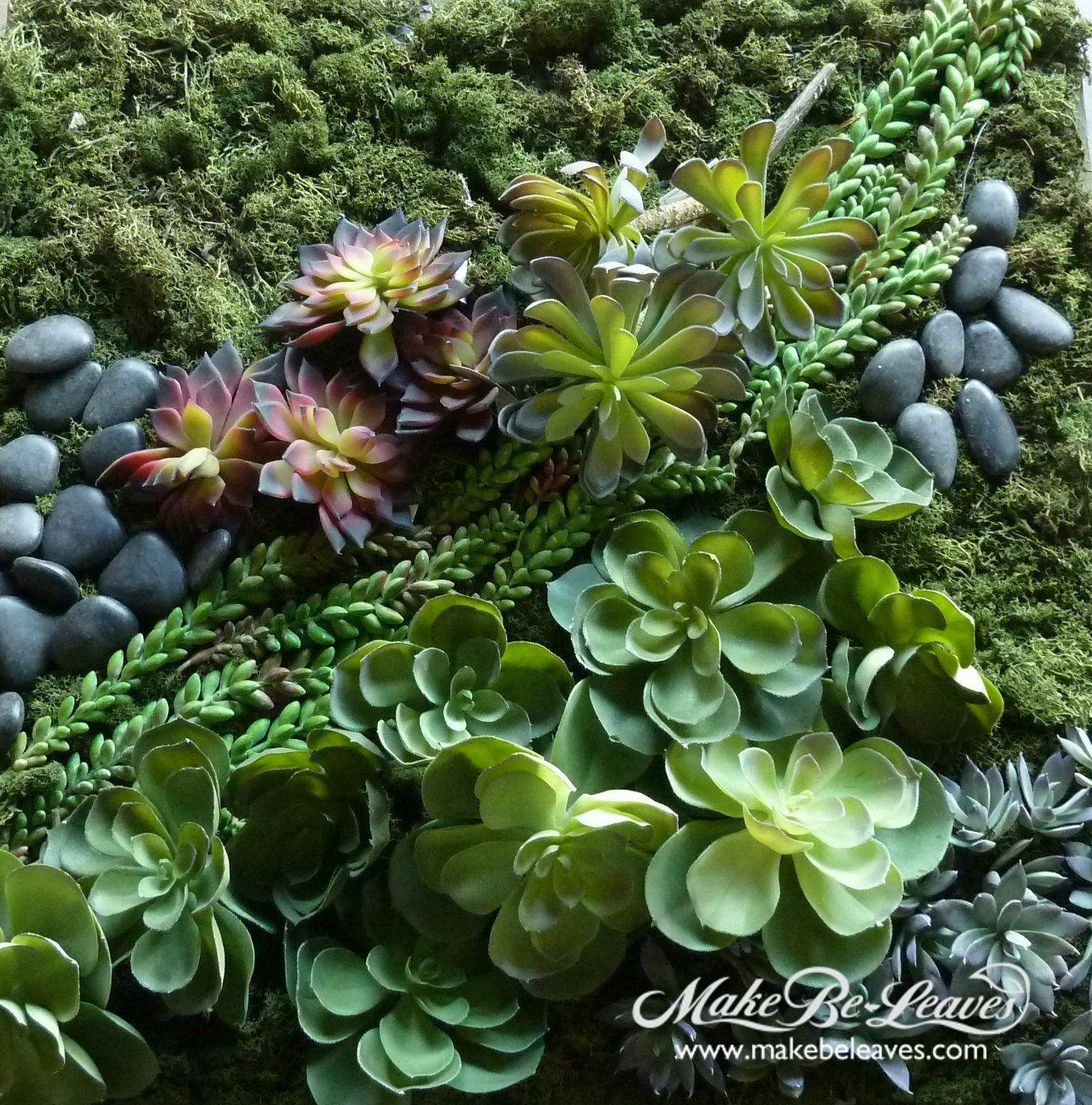 Mur Vegetal Plante Grasse succulent wall tapestry | makebeleaves - custom silk trees
