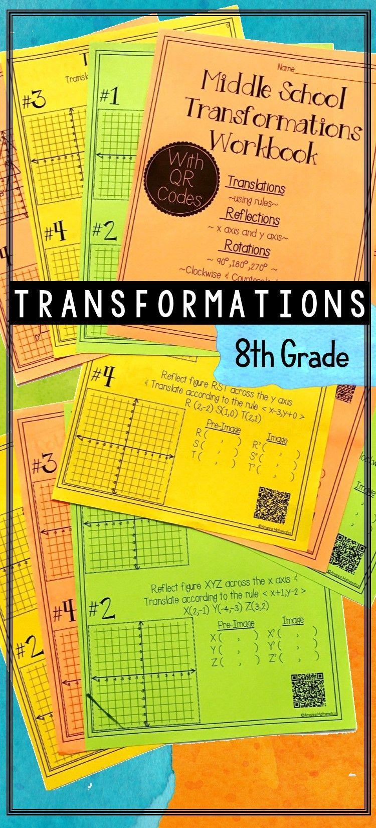 Dilations Translations Worksheet Answers Geometry Translations Rotations Dilations Worksheet In 2020 Gcse Math Transformations Math Gcse Maths Revision