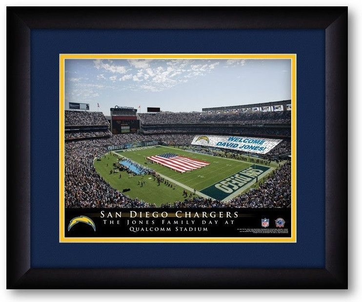 San Diego Chargers NFL Personalized Stadium Print San