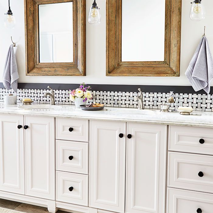 Designer Tip: Mix And Match Vanity Modules From The Same Collection To Satisfy Your Storage And