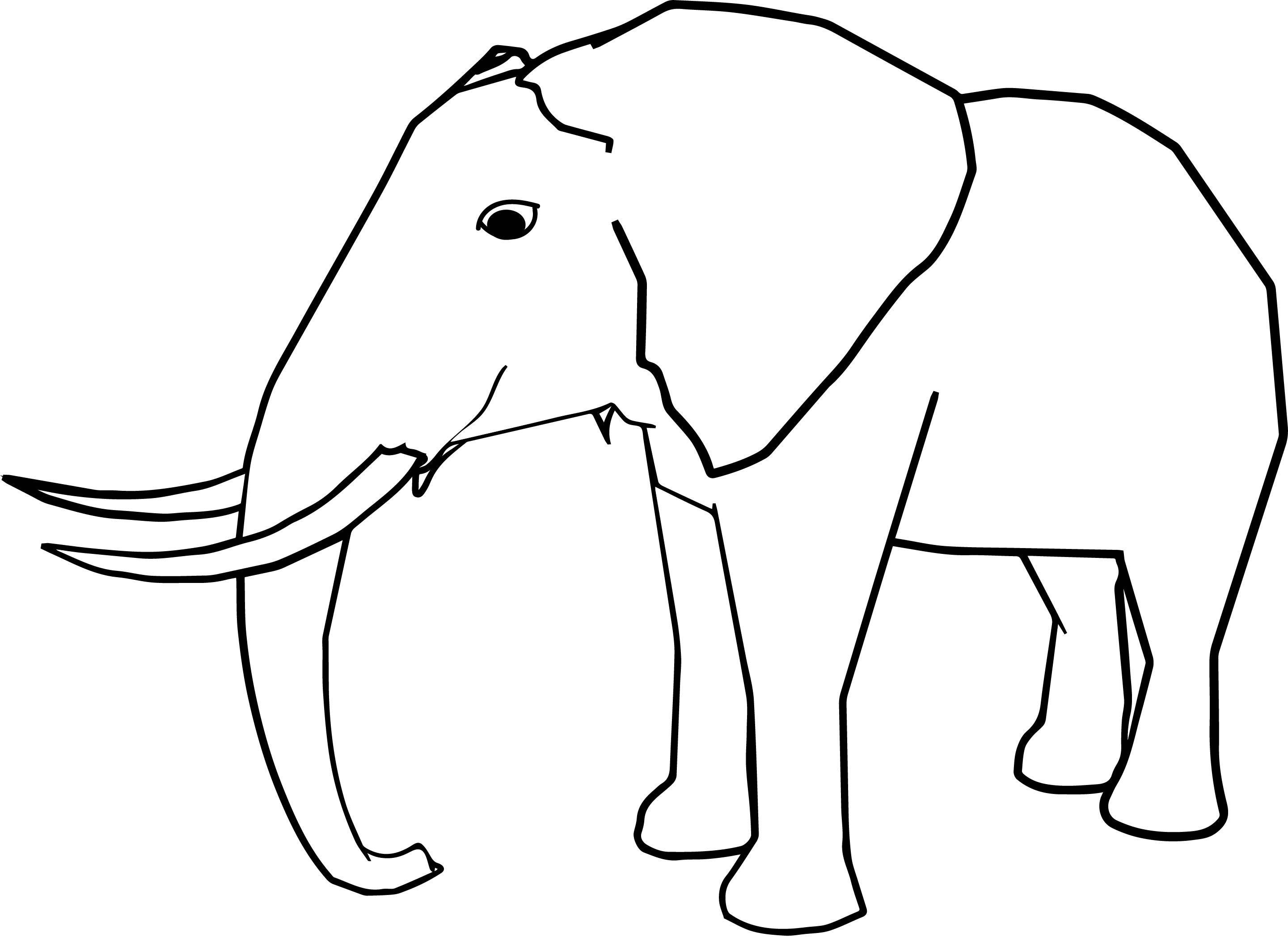nice Side Realistic Elephant Coloring Page | Elephant ...