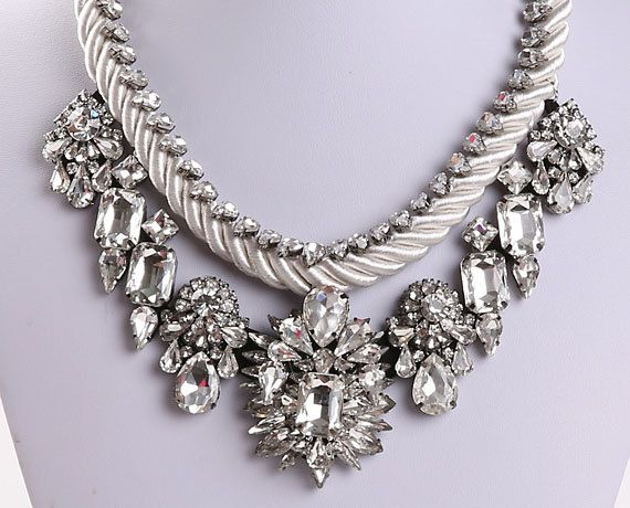 Luxury Necklace Statement Necklace Bubble by AdaFashionJewelry, $75.00