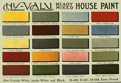 Green, Cream, Vermilion 1930s House Color Exterior | 18 Bungalow Paint  Color Schemes