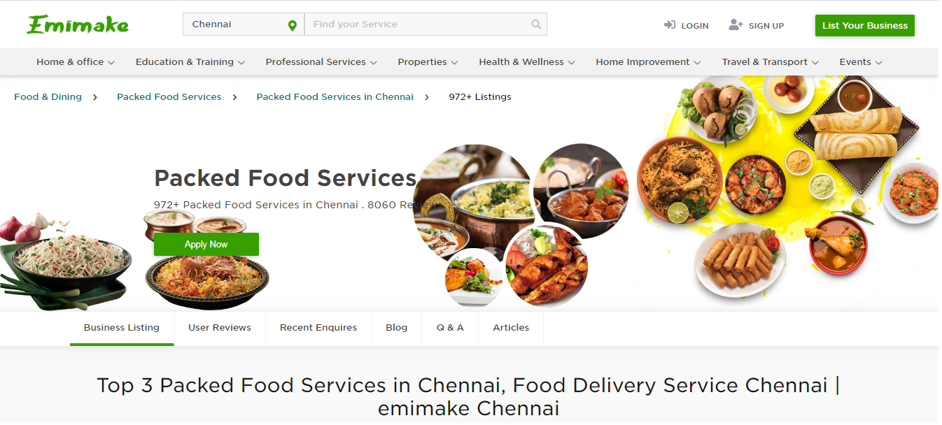 Top 3 Packed Food Services In Chennai Food Delivery Service Chennai Emimake Chennai In 2020 Event Food Dinner Catering Food