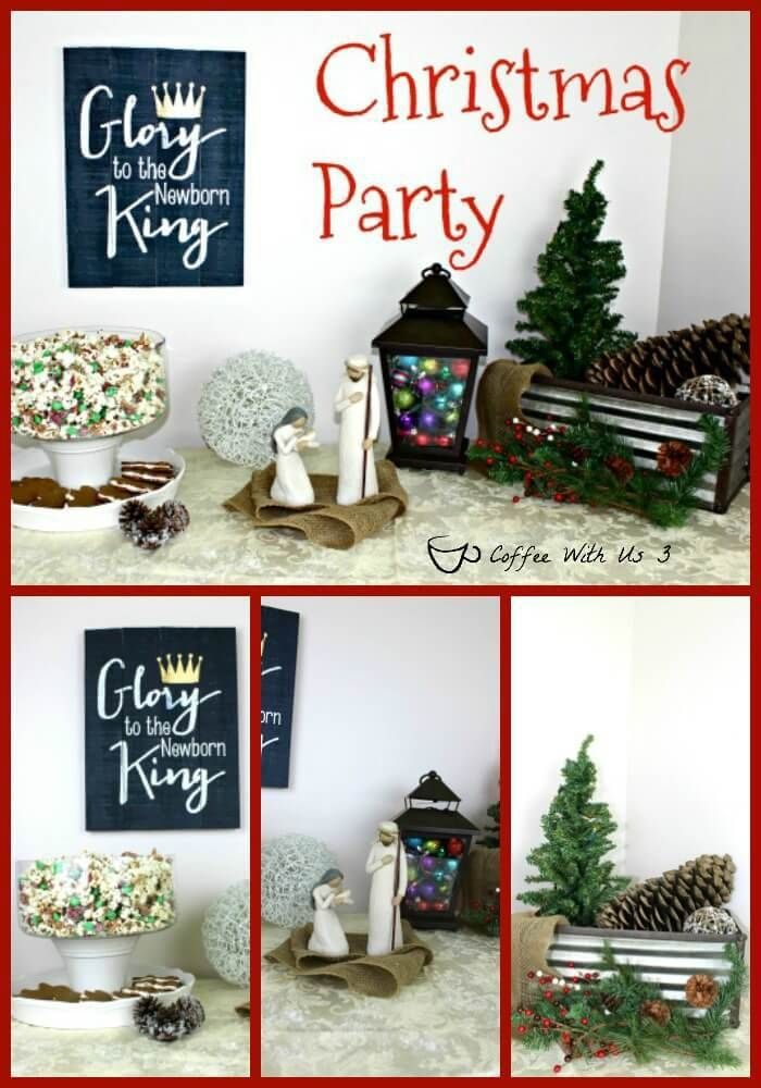 Simple Rustic Christmas Party Decor I Want To Share With You My Decorations And A Couple Desserts