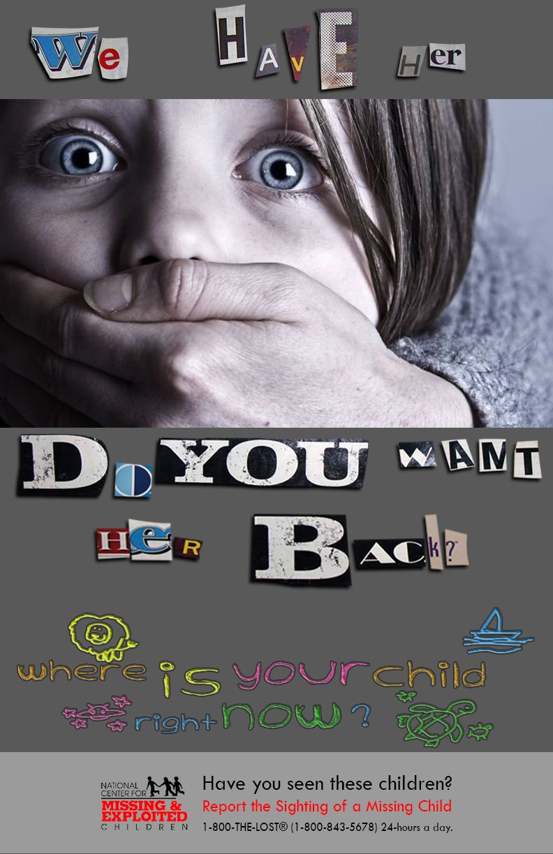 Kidnapping Awareness Poster Awareness Child Abduction