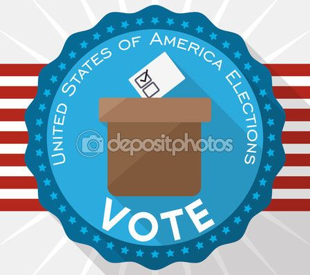Button with Ballot Box Promoting the Vote in American Elections