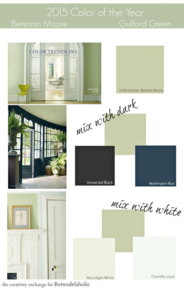 2015 Paint Color of the Year Benjamin Moore Guilford Green. A lovely ...