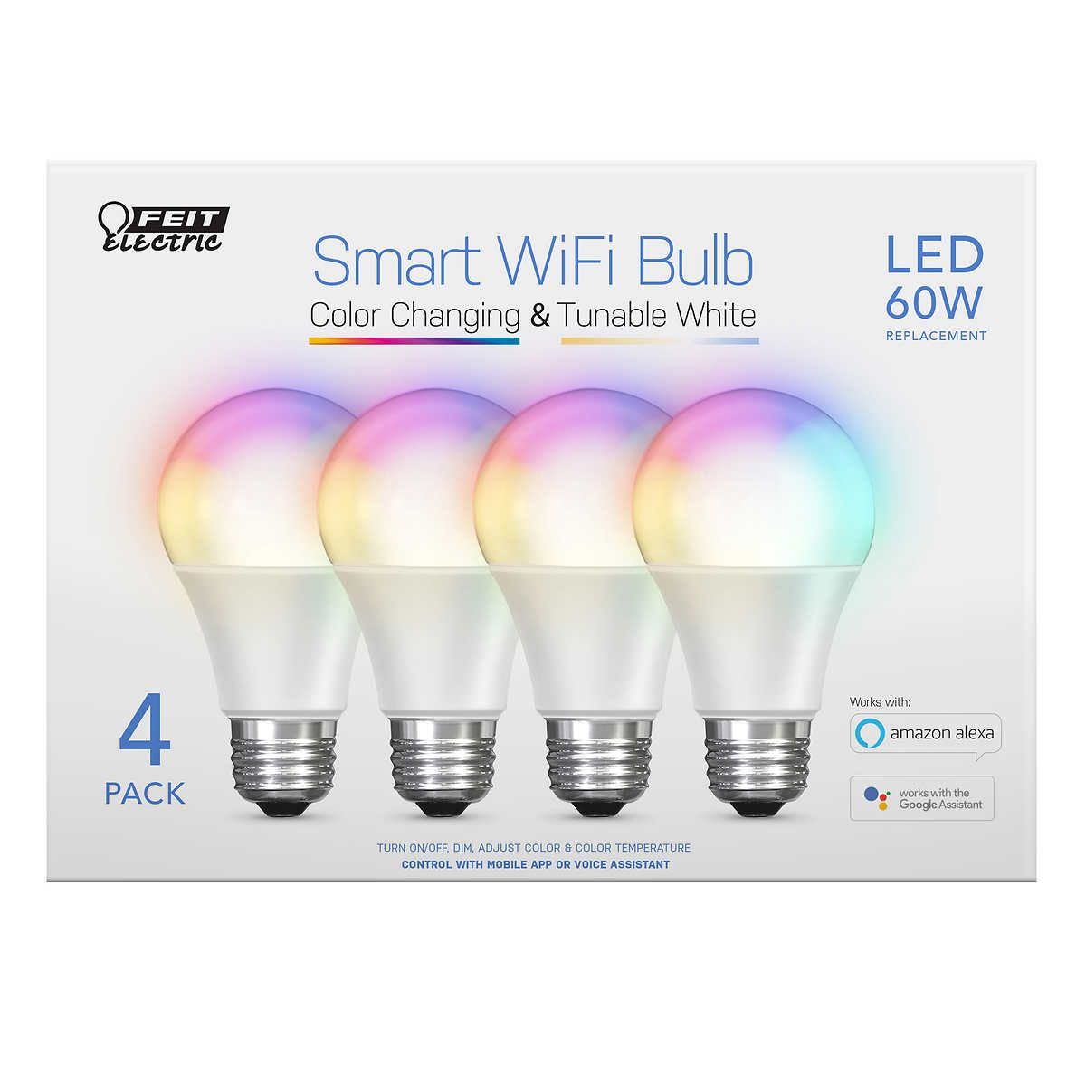 Feit Electric Wi Fi Smart Bulbs 4 Pack