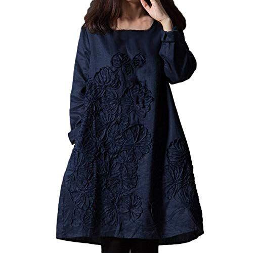 d33dce11d0a56 SamMoSon Discount Robe de Plage Vêtements Femme Cérémonie Floral Patchwork  Coton Lin en Vrac Bohe Mini