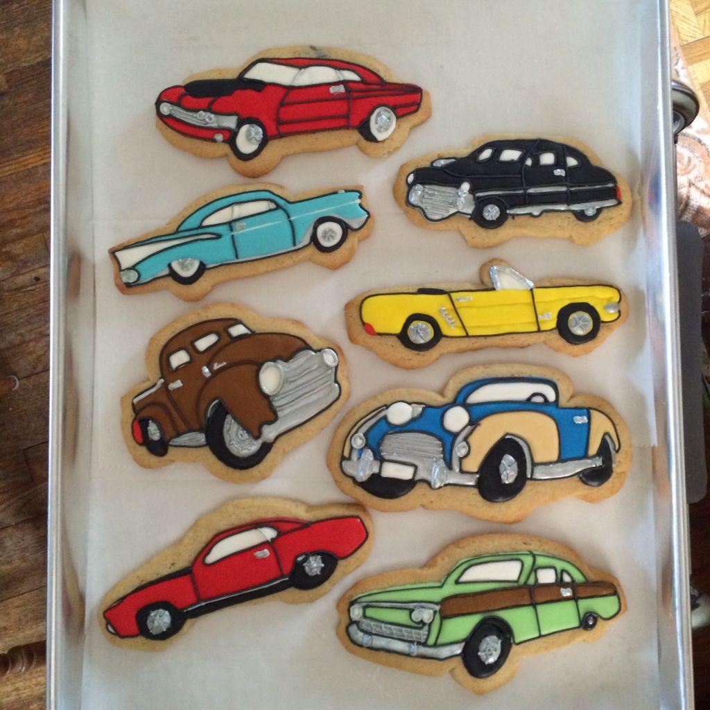 Classic car cookies   Decorated cookies   Pinterest   Car cookies ...