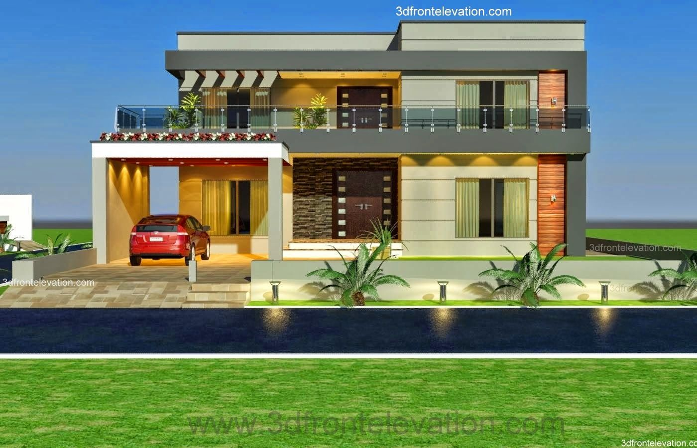 Plan To Elevation Converter : D front elevation kanal old style house convert in