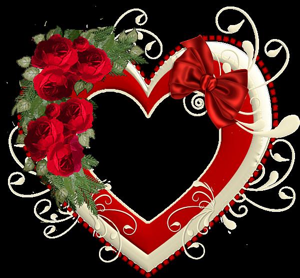 Heart Transparent Frame With Red Roses Rose Frame Vintage Valentine Cards Heart Frame
